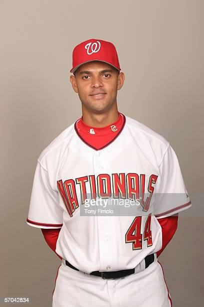 Alex Escobar of the Washington Nationals during photo day at Space Coast Stadium on February 27 2006 in Viera Florida