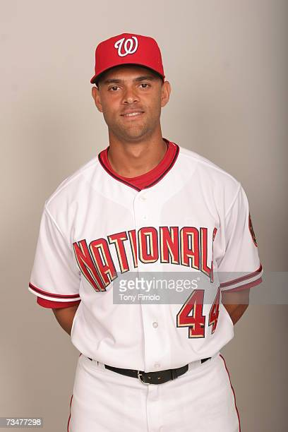 Alex Escobar of the Washington Nationals poses during photo day at Space Coast Stadium on February 25 2007 in Viera Florida