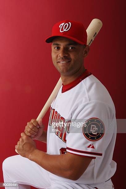 Alex Escobar of the Washington Nationals poses during Photo Day on February 23 2008 at Space Coast Stadium in Viera Florida