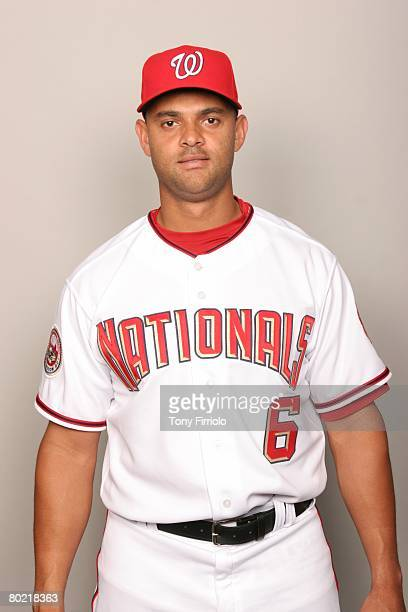 Alex Escobar of the Washington Nationals poses for a portrait during photo day at Space Coast Stadium on February 23 2008 in Viera Florida