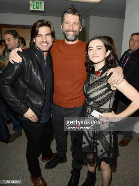 Alex Esola Bart Freundlich and Abby Quinn attend the 'After the Wedding' Premiere during the 2019 Sundance Film Festival at Eccles Center Theatre on...