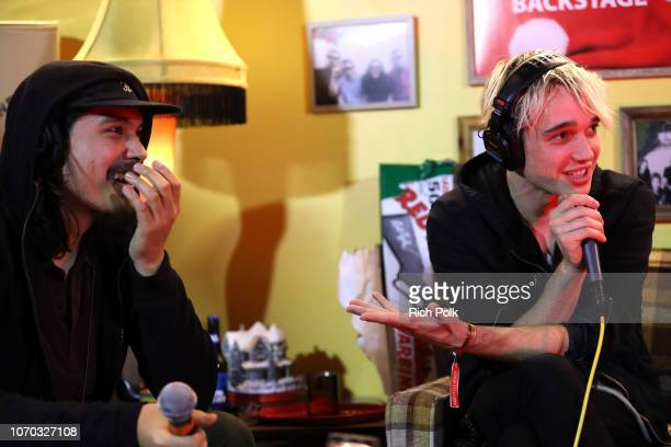 Alex Espiritu and Josh Katz of the band Badflower speak during an interview at the KROQ Absolut Almost Acoustic Christmas at The Forum on December 8...
