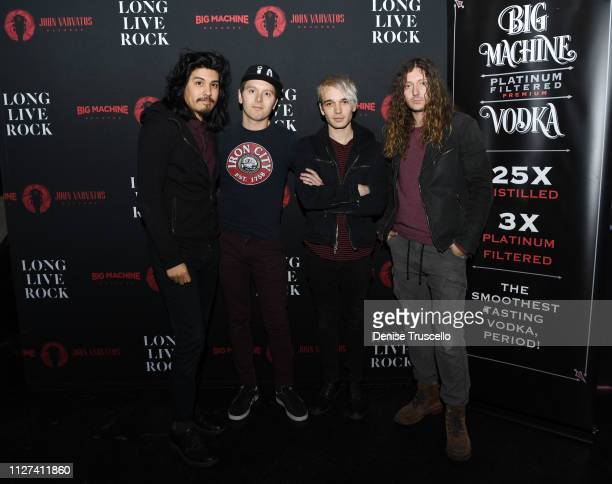 Alex Espiritu Anthony Sonetti Josh Katz and Joey Morrow of Badflower arrive at Big Machine/John Varvatos Records Las Vegas showcase at Backstage Bar...