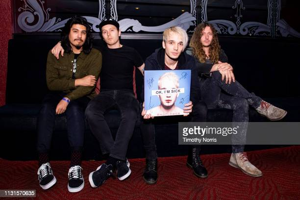 Alex Espiritu Anthony Sonetti Josh Katz and Joey Morrow of Badflower attend Badflower album release show at El Rey Theatre on February 22 2019 in Los...