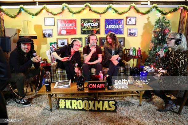 Alex Espiritu Josh Katz Anthony Sonetti and Joey Morrow of the band Badflower speak during an interview at the KROQ Absolut Almost Acoustic Christmas...