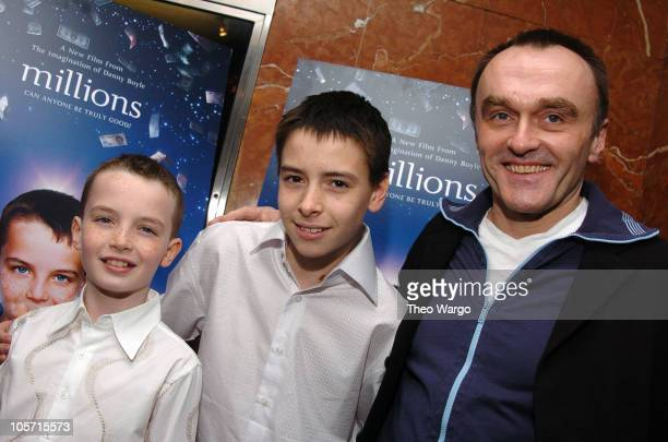 Alex Etel Lewis McGibbon and Danny Boyle director