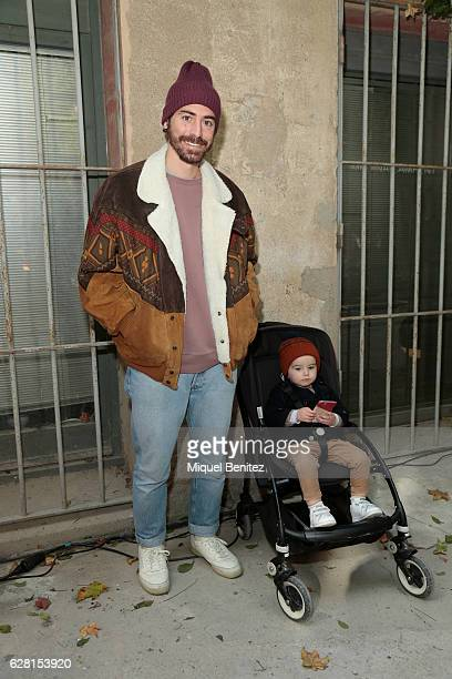 Alex Fabregas is wearing an Urban Outfitters wool cap a vintage jacket from Utrech Cos wool jersey Levi's jeans and Reebok trainers and Marti...