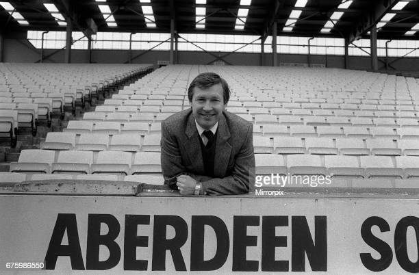 Alex Ferguson manager of Aberdeen FC 5th May 1983