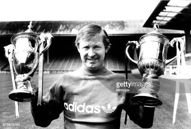 Alex Ferguson, Manager of Aberdeen who are League Champions of Scotland 1983/84 & Scottish FA Cup Winners 1984. Pictured at Pittodrie Stadium, August...