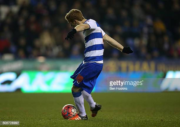Alex Fernandez of Reading scores his team's fifth goal of the game during The Emirates FA Cup Second Round match between Reading and Huddersfield...
