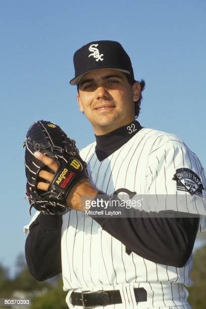 Alex Fernandez of the Chicago WHite Sox poses for photo during media day on March 2 1995 in Sarasota Florida