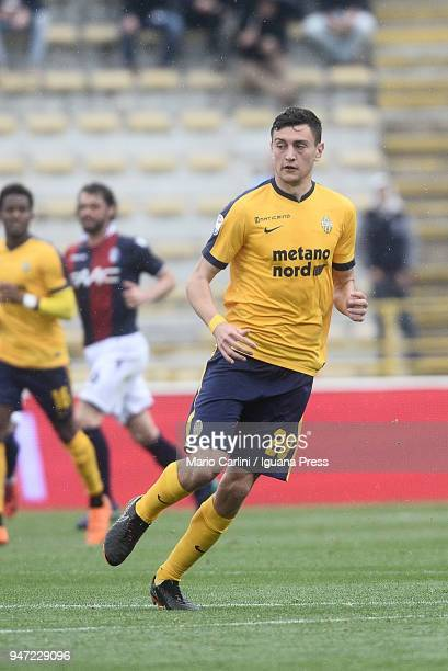 Alex Ferrari of Hellas Verona FC looks on during the serie A match between Bologna FC and Hellas Verona FC at Stadio Renato Dall'Ara on April 15 2018...