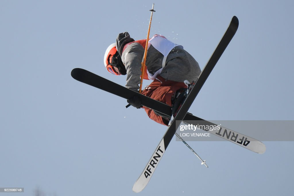 Alex Ferreira competes in a run of the men's ski halfpipe final during the Pyeongchang 2018 Winter Olympic Games at the Phoenix Park in Pyeongchang on February 22, 2018. /