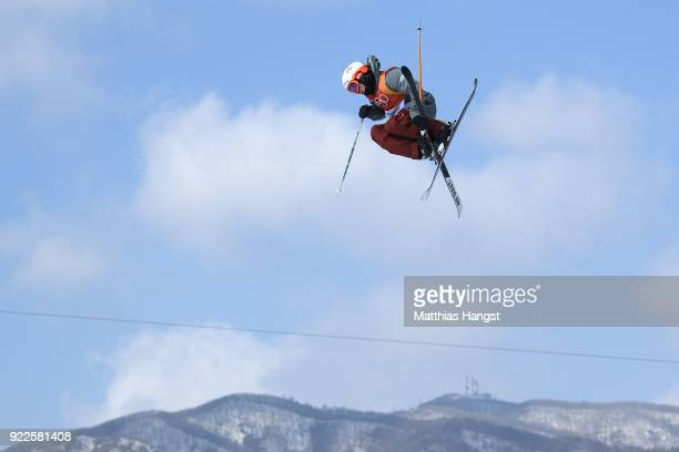 Alex Ferreira of the United States competes during the Freestyle Skiing Men's Ski Halfpipe Final on day thirteen of the PyeongChang 2018 Winter...
