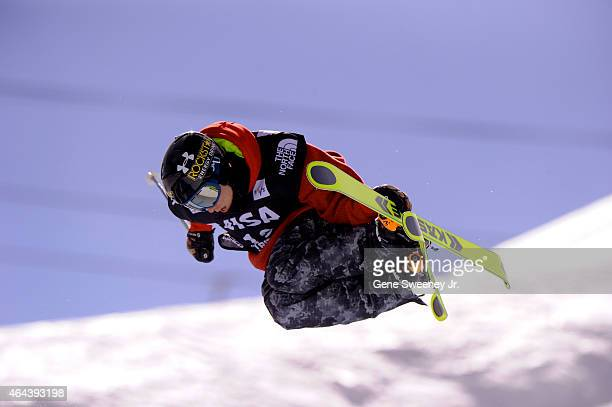 Alex Ferreira of the United States during qualifying for the FIS Freeskiing World Cup 2015 Men's Freeskiing Halfpipe during the US Grand Prix at Park...