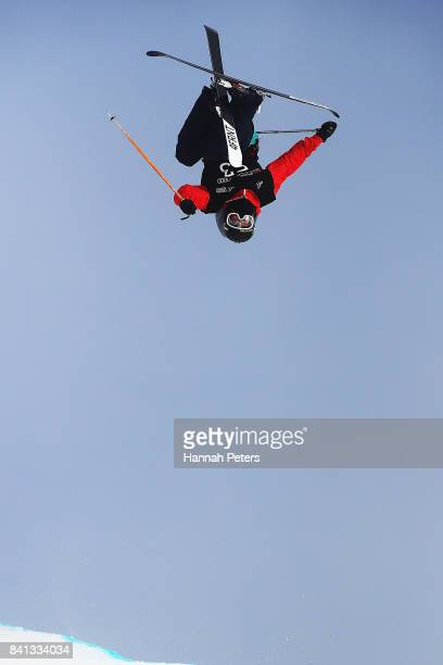 Alex Ferreira of USA competes during the Winter Games NZ FIS Freestyle Skiing World Cup Halfpipe Finals at Cardrona Alpine Resort on September 1 2017...