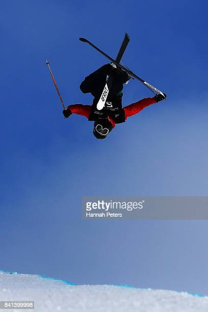 Alex Ferreira of USA competes in the Winter Games NZ FIS Men's Freestyle Skiing World Cup Halfpipe Finals at Cardrona Alpine Resort on September 1...