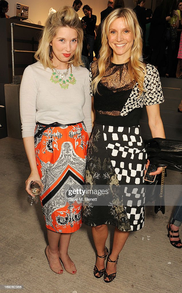 Alex Finlay (L) and Calgary Avansino attend the J.Crew concept store to launch their partnership with Central Saint Martins College Of Arts And Design at The Stables on May 22, 2013 in London, England.