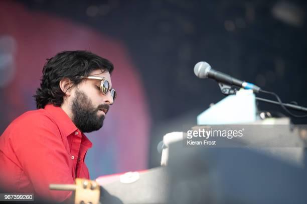 Alex Fischel of Spoon performs at Forbidden Fruit Festival at the Royal Hospital Kilmainham on June 4 2018 in Dublin Ireland