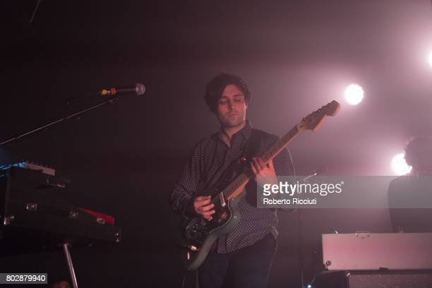 Alex Fischel of Spoon performs on stage at The Art School on June 28 2017 in Glasgow Scotland
