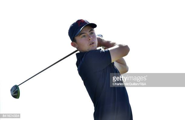 Alex Fitzpatrick during the afternoon singles matches as the Jacques Leglise Trophy golf tournament between GB Ireland versus the Continent of Europe...