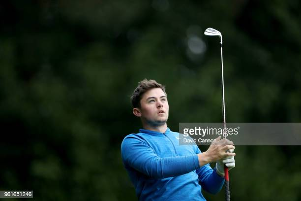 Alex Fitzpatrick the young plus four handicap amateur brother of European Tour player Matthew Fitzpatrick in action during the proam for the 2018 BMW...