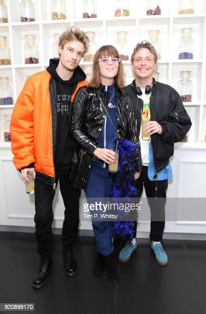 Alex Flockhart Mette Mortensen and Mads Christian Damgaard Christensen of Off Bloom attend Passavant and Lee PopUp Shop and Collection preview at...