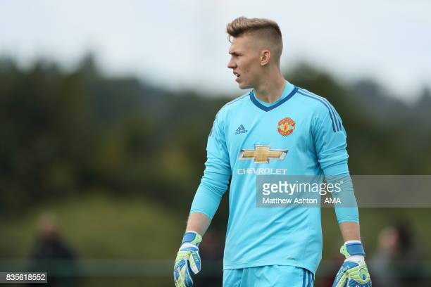 Alex Fojticek of Manchester United during the U18 Premier League match between West Bromwich Albion and Manchester United on August 19 2017 in West...