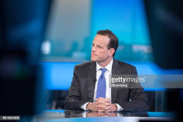 Alex Friedman chief executive officer of GAM Holding AG pauses during a Bloomberg Television interview in London UK on Wednesday Nov 29 2017 Friedman...