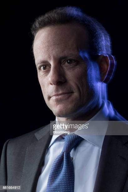 Alex Friedman chief executive officer of GAM Holding AG poses for a photograph following a Bloomberg Television interview in London UK on Wednesday...