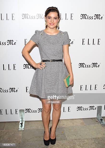 Alex Frnka attends the Elle Magazine And Sarah Hyland Hosts Songbirds' Miss Me Album Release Party at Sunset Marquis Hotel Villas on August 9 2012 in...
