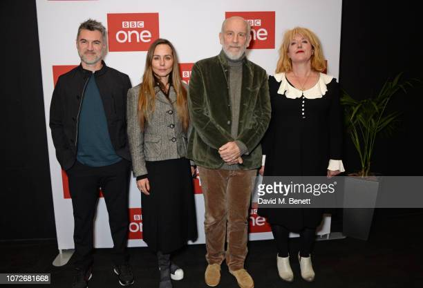 Alex Gabassi Tara Fitzgerald John Malkovich and Sarah Phelps attend a special screening of new BBC One drama 'The ABC Murders' at the BFI Southbank...