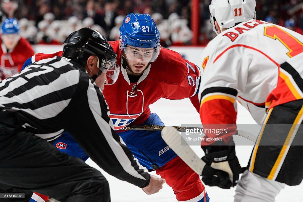 Calgary Flames v Montreal Canadiens : Fotografía de noticias