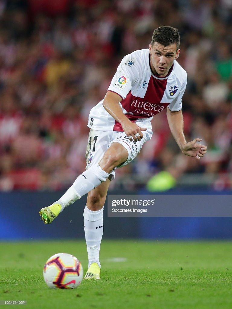 Alex Gallar of SD Huesca during the La Liga Santander ...