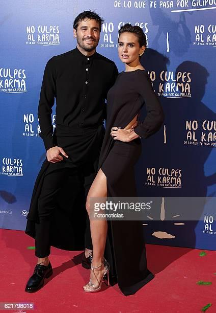 Alex Garcia and Veronica Echegui attend the 'No Culpes al Karma De lo Que Te Pasa Por Gilipollas' Madrid premiere at Capitol cinema on November 8...