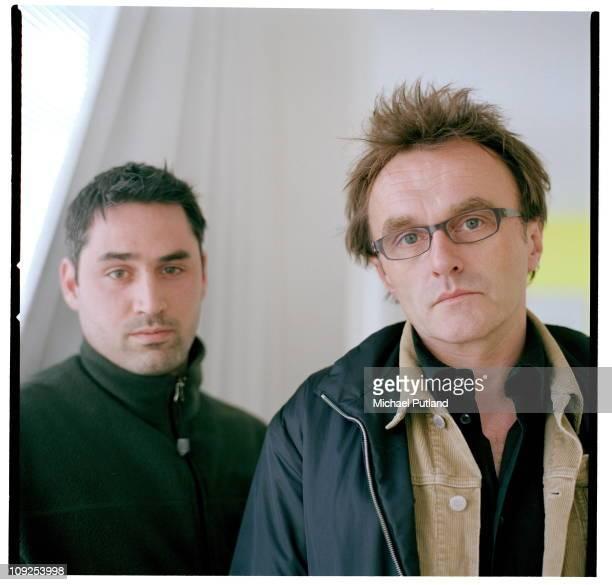 Alex Garland and Danny Boyle portrait UK April 2003