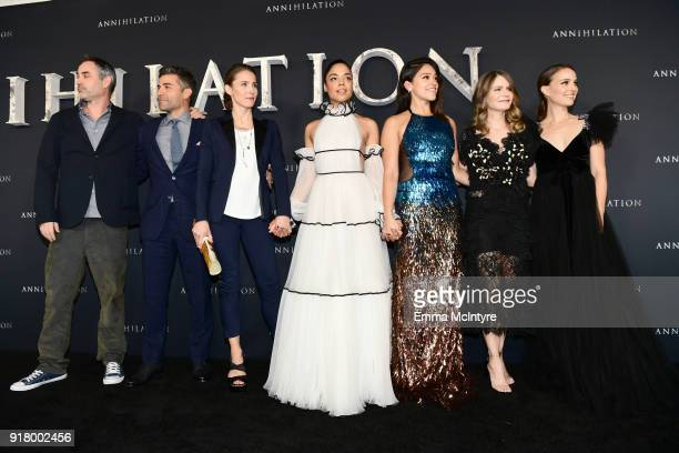 Alex Garland Oscar Isaac Tuva Novotny Tessa Thompson Gina Rodriguez Jennifer Jason Leigh and Natalie Portman attend the premiere of Paramount...