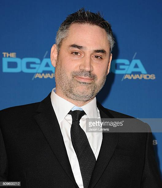 Alex Garland poses in the press room at the 68th annual Directors Guild of America Awards at the Hyatt Regency Century Plaza on February 6 2016 in...