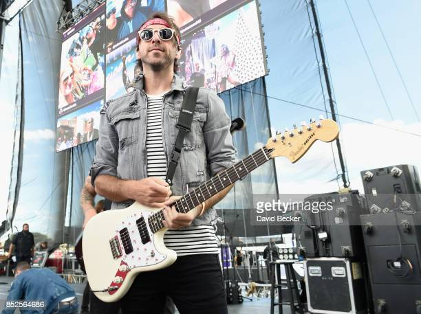 Alex Gaskart of All Time Low backstage during the Daytime Village Presented by Capital One at the 2017 HeartRadio Music Festival at the Las Vegas...