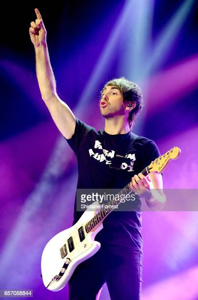 Alex Gaskarth of All Time Low performs at O2 Apollo Manchester on March 23 2017 in Manchester United Kingdom
