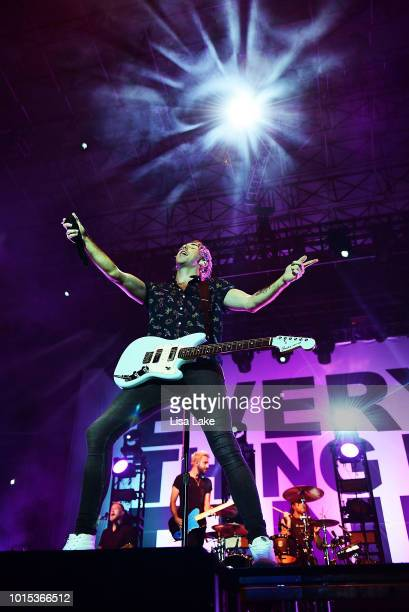 Alex Gaskarth of All Time Low performs during Musikfest at Sands Steel Stage at PNC Plaza on August 11 2018 in Bethlehem Pennsylvania