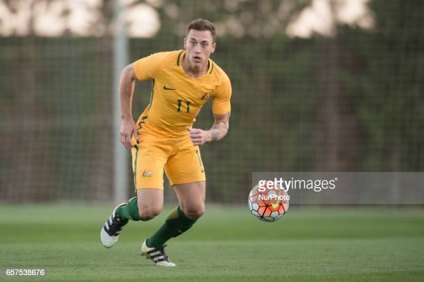 Alex Gersbach during the friendly match of national teams U21 of Austria vs Australia at Pinatar Arena on March 24 2017 in Murcia Spain