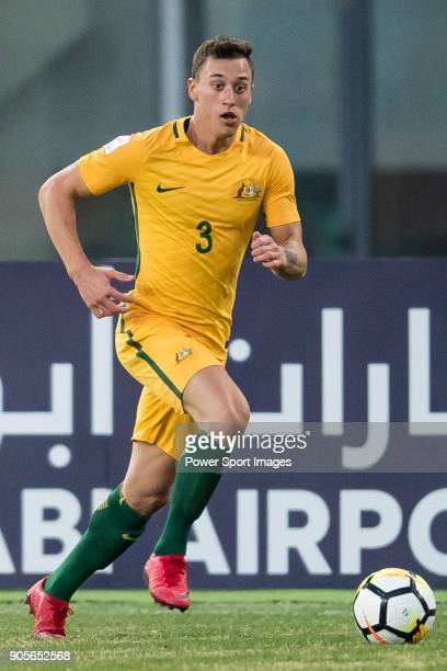 Alex Gersbach of Australia in action during the AFC U23 Championship China 2018 Group D match between Vietnam and Australia at Kunshan Sports Center...