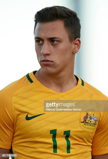 Alex Gersbach of Australia looks on prior to the international friendly match between Austria U21 and Australia U21 at Pinatar Arena on March 24 2017...