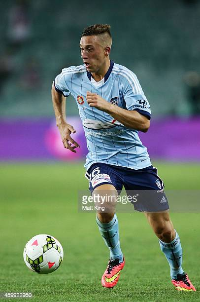 Alex Gersbach of Sydney FC controls the ball during the round 10 ALeague match between Sydney FC and Perth Glory at Allianz Stadium on December 4...