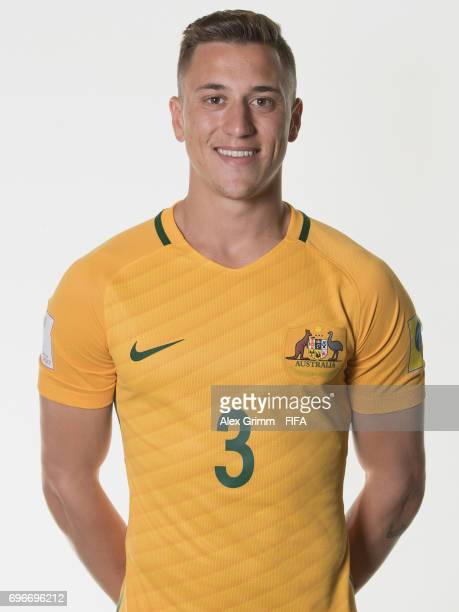 Alex Gersbach poses for a picture during the Australia team portrait session on June 15 2017 in Sochi Russia