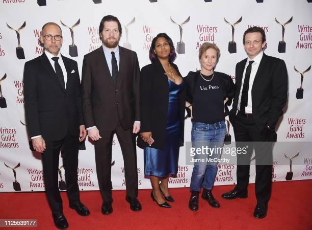 Alex Gibney Adam Rapp Shannon Houston Bash Doran and Dan Futterman attend the 71st Annual Writers Guild Awards New York ceremony at Edison Ballroom...
