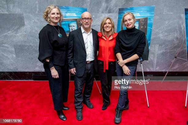 Alex Gibney Alisyn Camerota and Alexis Bloom attend the Divide and Conquer The Story of Roger Ailes New York Premiere at Paley Center For Media on...