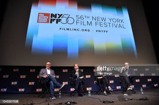 Alex Gibney Director Alexis Bloom and Alisyn Camerota attend the 56th New York Film Festival 'Divide And Conquer The Story Of Roger Ailes' at The...