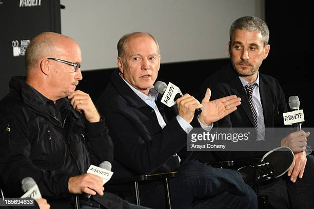 Alex Gibney Frank Marshall and Matthew Tolmach attend the 2013 Variety Screening Series Presents Sony Pictures Classics' The Armstrong Lie at...